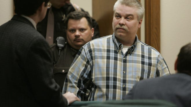 Steven Avery enters a courtroom in the Calumet County Courthouse Monday, March 18, 2007, in Chilton. Avery was found guilty of first degree intentional homicide in the murder of photographer Teresa Halbach, 25, on Oct. 31, 2005 near the family's auto salvage lot in rural Manitowoc County.