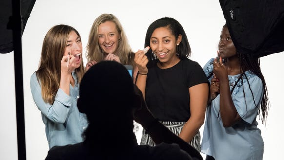 The USA TODAY Fenty Beauty testers.