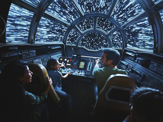 This rendering shows people on the planned Inside Millennium Falcon: Smugglers Run attraction.