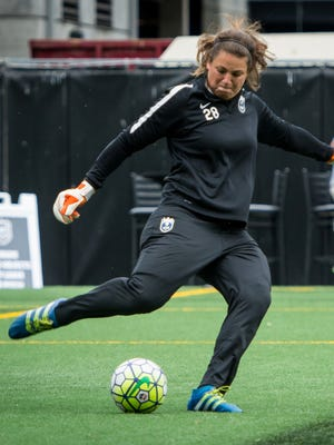 Haley Kopmeyer, a Bloomfield Hills Lahser graduate, is starting in goal these days for the Seattle Reign FC of the NWSL.