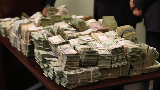 The Lee County Sheriff Office seized more than a million dollars in cash when arresting Landrus Powell, 53, of Fort Myers.