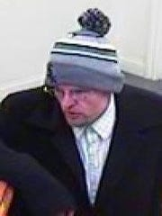 Crawfordsville police believe this man robbed the Fountain Trust Co. Bank on Saturday.