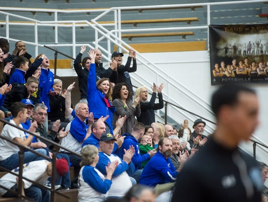 Spring Grove fans react after the Rockets built an