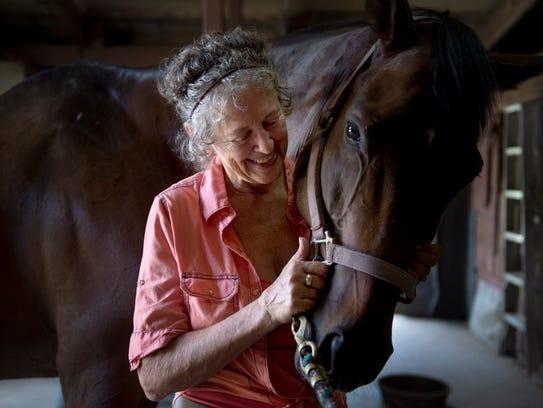 Jean Duckworth's horse Tom survived the Ellis Park