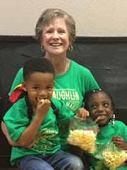 The McLaughlin family celebrates St. Patrick's Day at ICon Fitness. From left: Zack, Kim and Keshia.