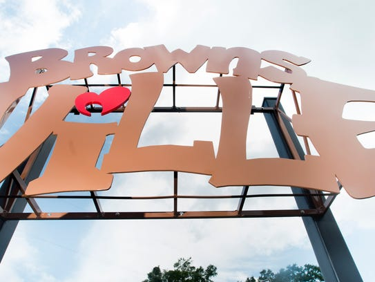 A Brownsville sign on Friday, June 1, 2018.