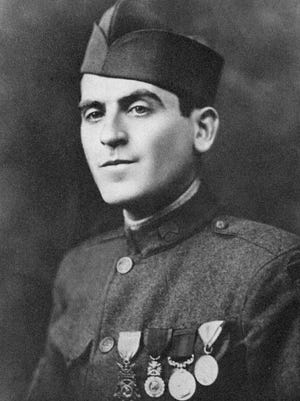 """J.E. """"Buck"""" Karnes, World War I Medal of Honor recipient. He was awarded his medal for his exploits with the 30th Division near Estrees, France, on Oct. 8, 1918."""