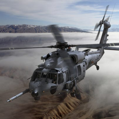 An artist's rendering of the combat rescue helicopter