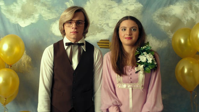 "A still from the movie ""My Friend Dahmer."" Sydney Meyer, a senior at Louisville's Assumption High School, plays Dahmer's prom date in the film."