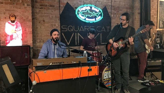 """Bybye performs on the Feb. 20, 2018, episode of """"Dogfish Head Brewery presents IndyStar Sessions at Square Cat Vinyl."""""""