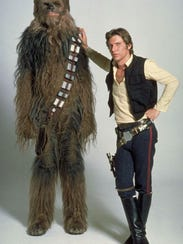 Two cool cats: Chewbacca and Han Solo take time out