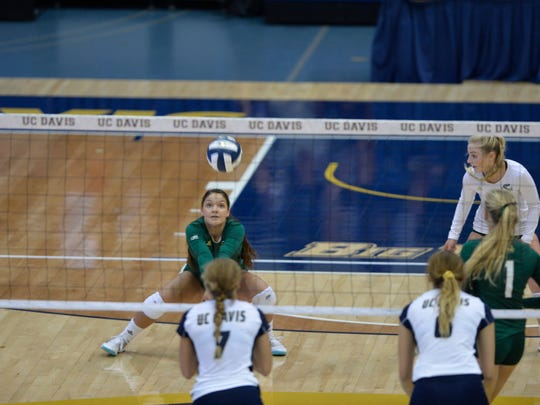 Hannah Meadows, and the Sacramento State Hornets, face Nevada in volleyball on Thursday night at the Virginia Street Gym.