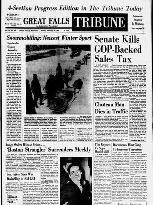 Great Falls Tribune front page: Sunday, Feb. 26, 1967