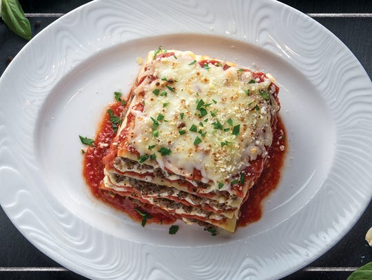 Lasagna is one of the items on the menu at Bella Italiana,