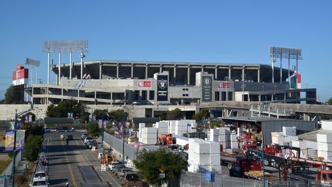 The Raiders will call the Oakland Coliseum home for at least one or two more seasons before leaving for Las Vegas.