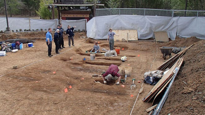 An archaeological crew excavated 19th-century graves at the Nashville Zoo earlier this year. DNA and skeletal evidence from the remains showed the graves were almost certainly part of an African-American slave cemetery at the old Grassmere farm.