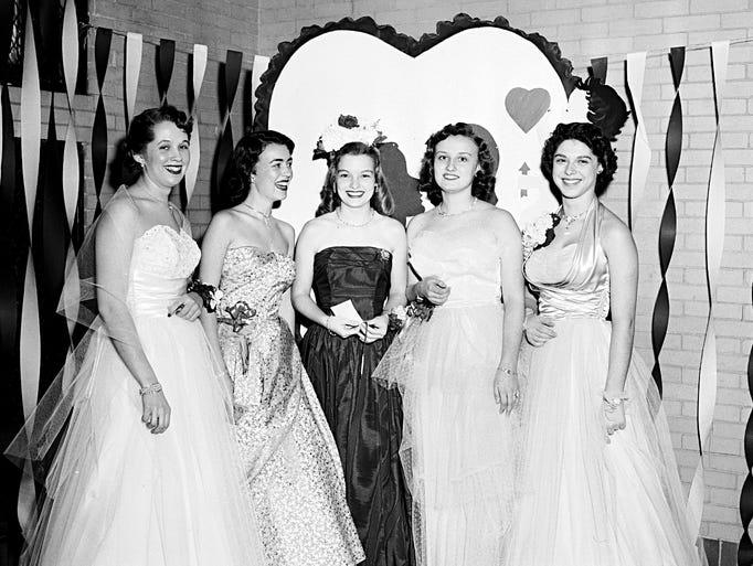 Valentine's Day dance at Vineland High School in 1953.