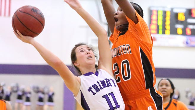 TCA guard Brynne Lytle goes up for a shot against Middleton on Tuesday.