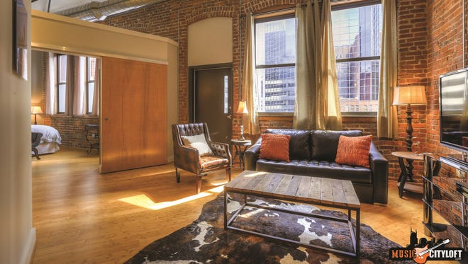 Vacation rental company Music City Loft at 162 Fourth Ave. N. has three of 16 lofts available for CMA Fest weekend.