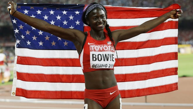 Tori Bowie is one of the top sprinters in the world. She's from Sand Hill and attended Southern Miss.