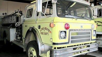 Lone Grove Fire Department fire truck.