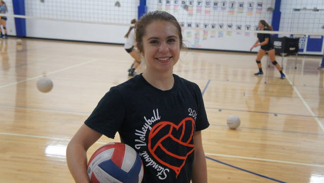 Auburndale senior Brooke Anderson is the lone senior leaders on the volleyball team.