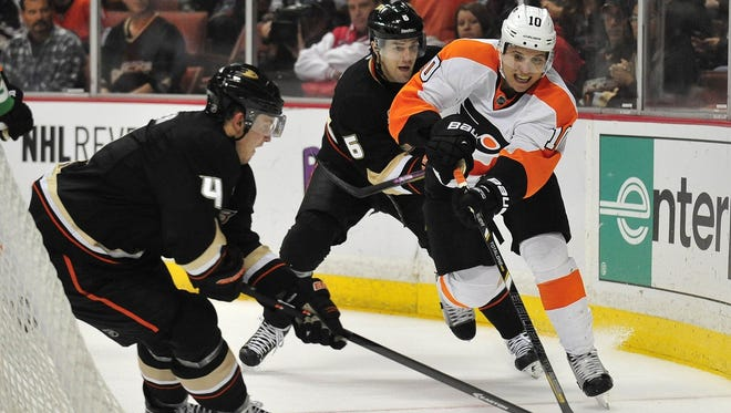 Last time the Flyers visited Anaheim they lost 5-3.