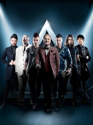 """""""The Illusionists"""" are, from left, Colin Cloud, Kevin James, Dan Sperry, Jeff Hobson, Andrew Basso, Ben Blaque and Yu Ho-Jin."""