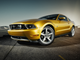"""2010 Ford Mustang GT with """"Vista Roof"""": The fifth generation Mustang was redesigned for the 2010 model year with more sculpted haunches and new front and rear fascias."""