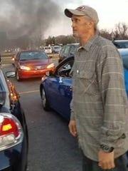 Federal authorities released this picture hours before they arrested Timothy M. McDowell on arson charges.