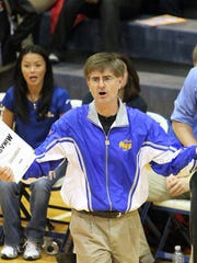 Burris volleyball coach Steve Shondell.Greg Fallon
