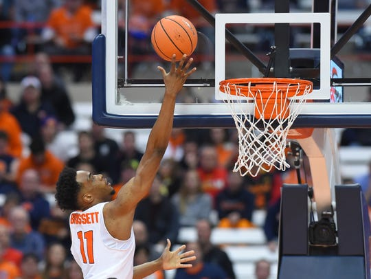 Syracuse Orange forward Oshae Brissett (11) shoots