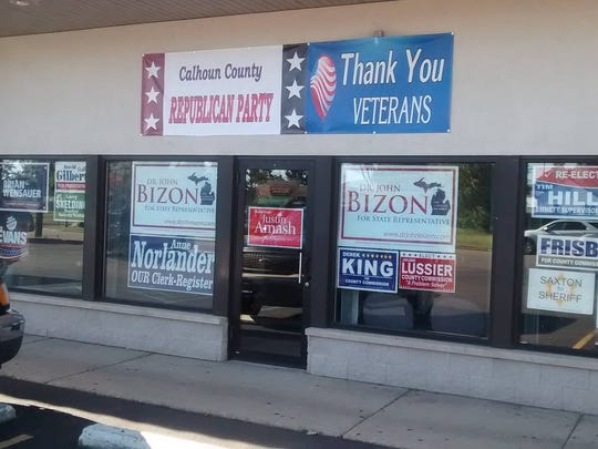 The Calhoun County Republican Party has opened a campaign office for local candidates at 590 W. Columbia Ave.