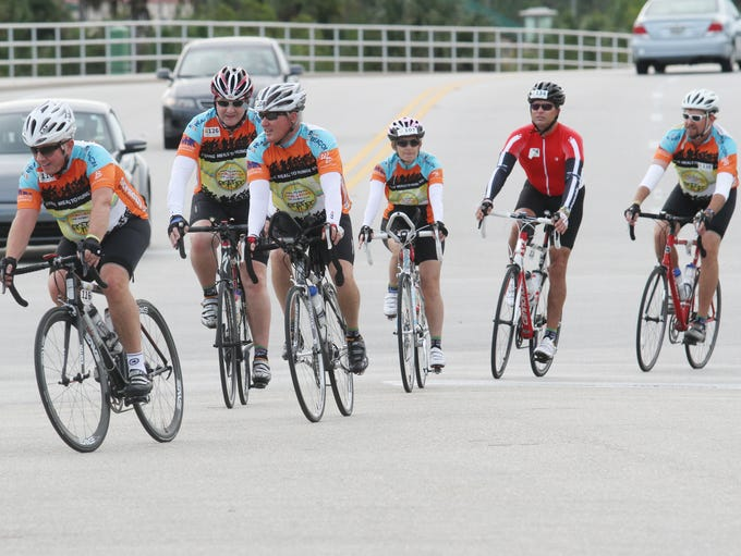 Cyclists participating in the 2nd Annual Pan-Florida