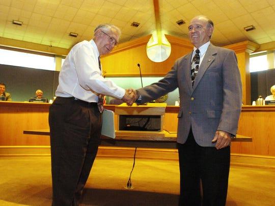 In this file photo, retiring Bossier City Mayor George