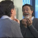 Stephen Colbert ditches his hiatus beard in the first promo for 'The Late Show,' .