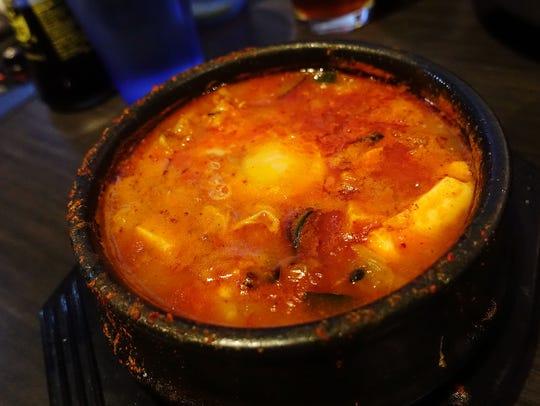 Soft tofu soup at Oyha.