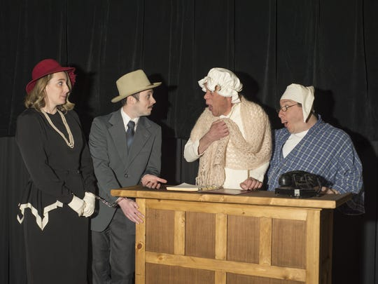 The cast of the Elmira Little Theatre production of