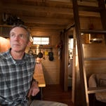 Curt Lyons has been building a tiny house on his property for the last year. The structure, around 105 square feet, includes a small kitchen, loft for sleeping and compost toilet.