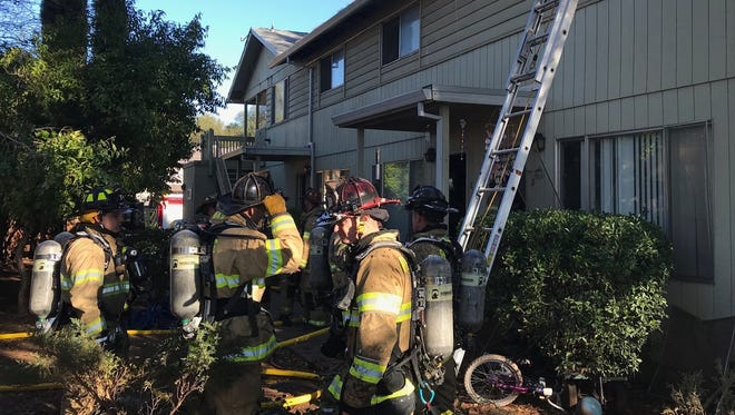 A fire got into the attic of one apartment on Del Sol Place in east Redding on Thursday morning.