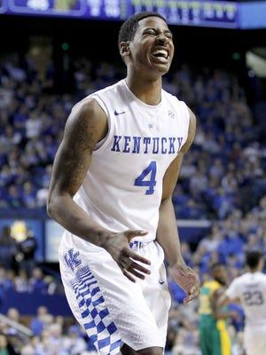 Kentucky guard Charles Matthews plays against Kentucky State at Rupp Arena.