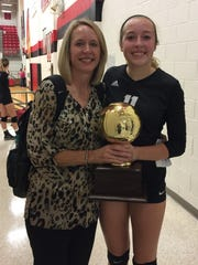 Archer City assistant coach Julie Castles and her daughter