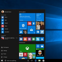 The Start menu is back and enhanced.