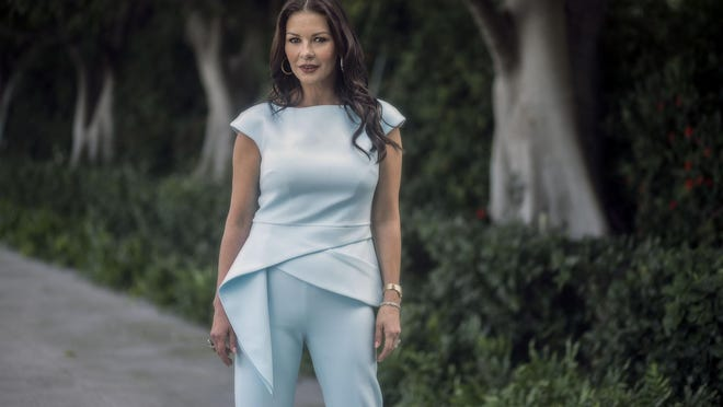 Actress Catherine Zeta-Jones spoke Tuesday about her marriage to Michael Douglas, her career and hopes for the future at The Society of the Four Arts.