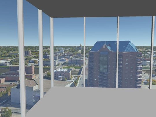 This is a rendering of the view on the 24th floor of