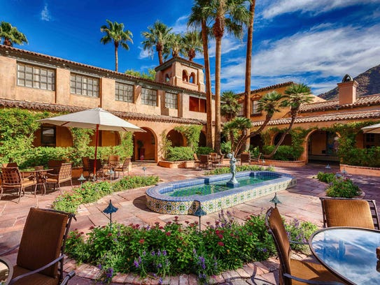 A courtyard at Royal Palms Resort & Spa in Phoenix.