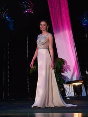 Hope Copiskey in the Presence and Poise in Evening Wear competition.