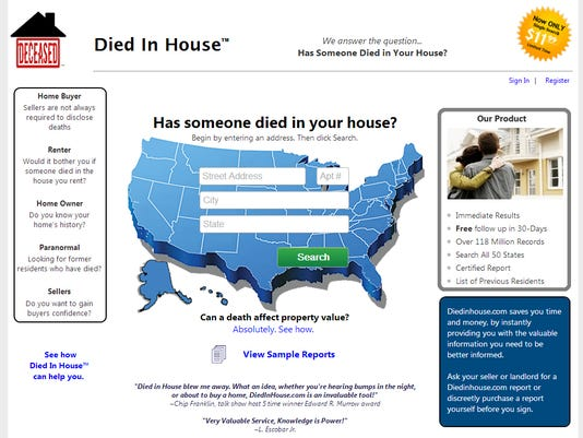 Died in House