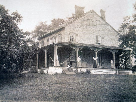 This is an undated early photo of the Mifflin House