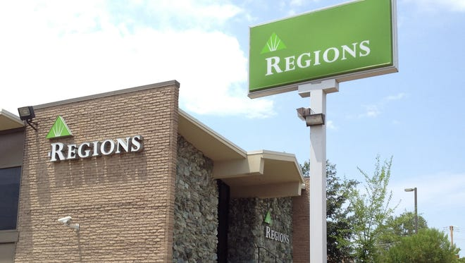 A Regions Bank located in Jackson, Miss.